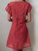 Pockets Round Neck Linen Dresses
