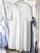 V neck Buttoned Casual Half Sleeve Dresses
