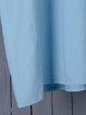 Spring/Summer Shirt Collar V-Neck Pleated Details Casual Dresses