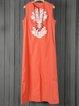 Shift Women Daytime Sleeveless Casual Slit Geometric Summer Dress