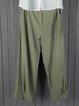 Plus Size Linen Women Loose Capri Pants With Pockets
