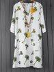 V Neck Women Dresses Shift Boho Dresses