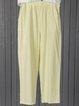 Paneled Linen Casual Pants