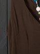 V Neck Women Dresses Holiday Linen Dresses