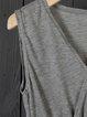 V neck  Sheath Women Sleeveless Statement Asymmetric Solid Summer Dress