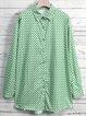 Long Sleeve Polka Dots Shirt Collar Vintage Blouse