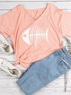 Women Plus Size Printed Animal Short Sleeve Casual Cotton T-Shirts