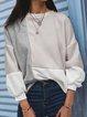 Fall Color-Block Casual Shirts & Tops