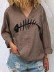 V Neck Sweet Long Sleeve Shirts & Tops