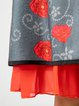 Multicolor Sweet Floral Silk-Chiffon Skirts