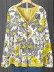 Printed Vintage Long Sleeve Cotton Blouses