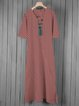 Crew Neck Women Dresses Casual Dresses