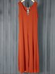 4 Kinds of Pure Color Sleeveless Plus Size Leisure Resort Jumpsuits