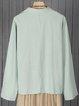 Long Sleeve Pockets Linen Floral Shirts & Tops