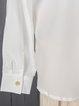 Button Pure Color Long Sleeve Plus Size Shirts