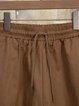 Pockets Solid Casual WomenPants