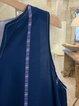 Sleeveless V Neck Sleeveless Maxi Dress