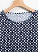 Printed Polka Dots Short Sleeve Crew Neck Maxi Dresses