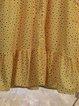 Crew Neck Women A-Line  Polka Dots Dresses