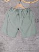 Women's Elastic Waist Pockets Linen Casual Plus Size Shorts