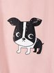 Cute Dog Printed Short Sleeve Tee Shirts