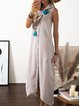 Women Summer Dresses Cocoon Daily Paneled Solid Dresses