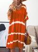 Plus Size Patchwork Hippie Women Summer Mini Dresses