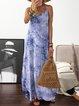 V Neck Women Dresses Shift Daily Tie-Dyed Dresses