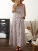 Crew Neck Women Dresses Floral-Print Dresses