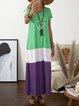 Plus Szie V Neck Women Summer Caftans Daily Dresses