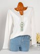 Plus Size Casual Long Sleeve T-Shirts