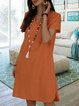 V Neck Women Summer Dresses Daily Casual Cotton Dresses