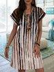 V Neck Short Sleeve Dresses