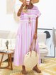 Crew Neck Women Casual Dresses Daily Casual Dresses