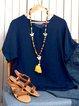 Plus Size Linen Cotton-Blend Women Summer T-shirts