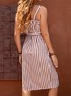 Spaghetti Women Dresses Shift Daily Boho Buttoned Dresses