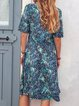 Summer Printed Midi Dress Women Plus Size Dresses
