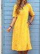 Floral Pockets Midi Dress