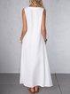 Sleeveless Solid Maxi Dress Summer Pockets Plus Size Dresses