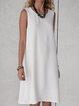 Solid Sleeveless Mini Dress Summer Plus Size Dresses