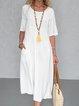 White Plain Dresses  Silhouette version