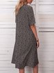 Women Caftan Printed Pockets Summer Dresses
