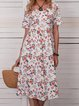 Women Floral Caftan Pockets Summer Dresses