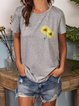 Sunflower Print T-shirt