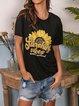 """SUNSHINY VIBES"" Sunflower print T-shirt"