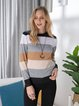 Light Kahaki Long Sleeve Acrylic Sweater