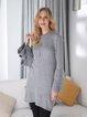 Gray Casual Plain Acrylic Crew Neck Sweater