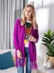 Purple Plain Long Sleeve Casual Sweater
