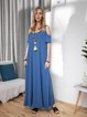 Casual Strapless Round Neck Loose Maxi Dress