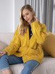 Horn Button Pocket Thick Knit Casual Long Coat